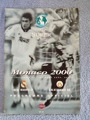 2000 - UEFA SUPER CUP FINAL PROGRAMME - REAL MADRID v GALATASARAY