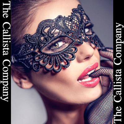 The Callista Company, Sexy Black Lace Masquerade Mask For Women (One Size)