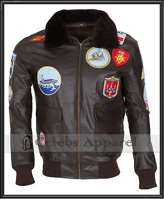 TOM CRUISE PETE MAVERICK TOP GUN G1 FIGHTER BOMBER JET PILOT LEATHER JACKET Men