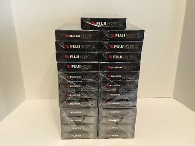 FujiFilm High Quality HQ 120 VHS Blank Recording Tape NEW SEALED, LOT OF 25