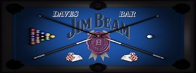 JIM BEAM POOL MANCAVE BANNER Work Shop Garage Shed Bar Whisky