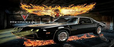 PONTIAC FIRE BIRD  MANCAVE BANNER Work Shop Garage Shed Bar Whisky FLAG