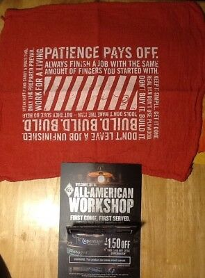 Copenhagen Promo Hand Towel Patience Pays Off Work For A Living + Coupon