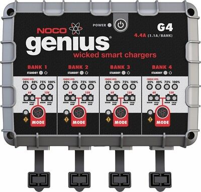 NOCO Genius G4 6//12v 1100ma 4 Bank Battery Charger #G4