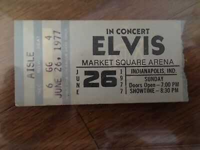Original Elvis Presley Authentic 1977 'final Live Concert Performance' Ticket!