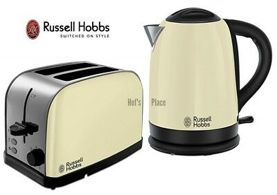 Kettle and Toaster Set Russell Hobbs Dorchester Kettle & 2 Slot Toaster - Cream