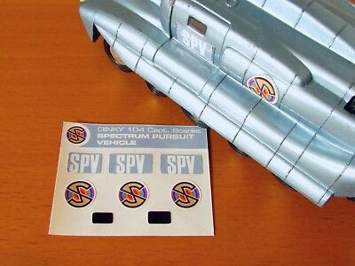 DINKY 104 Captain Scarlet - SPV Replacement Labels/Stickers