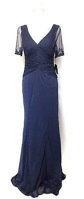 Adrianna Papell Gownmother Of Bride Dresssize 4retail220steel