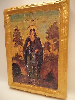 Saint Anthony San Antonio St. Antoine  Byzantine Greek Orthodox Christian Icon