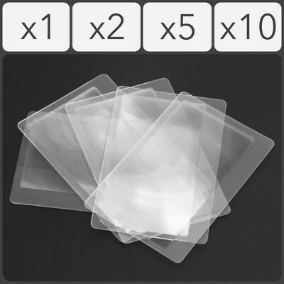 Credit Card Size 3X Magnifying Fresnel Lens Reading Aid Magnifier