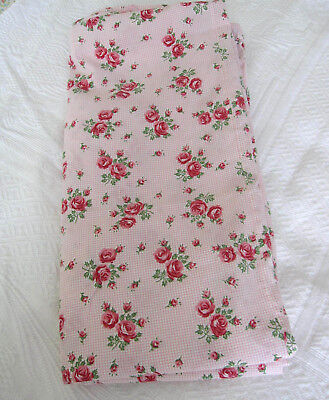 Vintage Printed Cotton Pink Cabbage Roses Duvet Cover