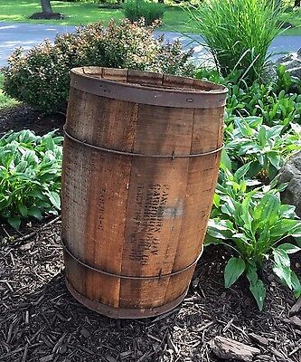 Vintage Wooden Wood Nail Keg Crate Barrel Hagerstown MD Rustic Primitive Farm