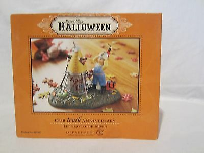 NEW Dept 56 Halloween Snow Village Accessories Let's Go to the Moon
