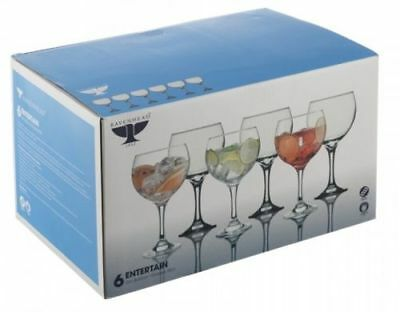 Set of 6 Large Gin Balloon Glasses 65cl Cocktail Glass