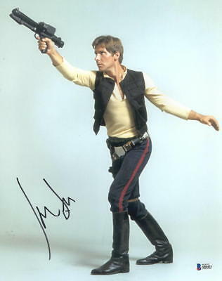 Harrison Ford Signed 11X14 Photo Star Wars Han Solo Autograph Proof Beckett Loa