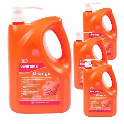 4X New Deb 4L Swarfega Orange Pump Workshop Garage Hand Cleaner Sor4Lmp