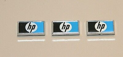 HP (Agilent,Keysight ) Label/Logo ( lot of 3 ) Approx size 13mm X  7.5mm