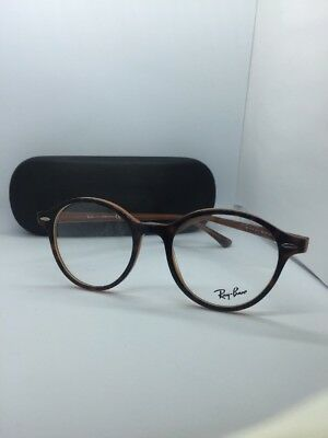 0c7a6dd7d7 New Authentic Ray Ban Rb 7118 5713 Havana Brown Eyeglasses Frame 50-19-145