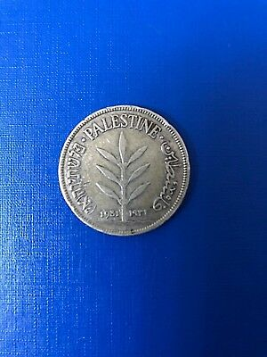 Palestine 100 Mils, 1931, silver  0.72, key date! *rare coin*, only 250K minted