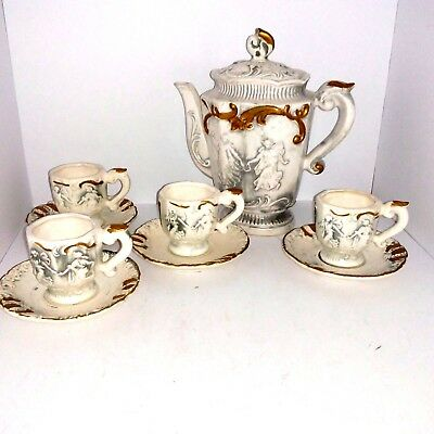 Vintage Victorian Japanese Demitasse Tea Set