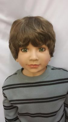 "NWT Monique Bebe Lt Brown Boy Doll Wig 19 1/2"" fits Masterpiece Doll(WIG ONLY)"