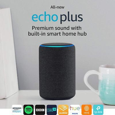 Amazon Echo Plus (2nd Generation) Premium Sound with Built-In Hub - Charcoal