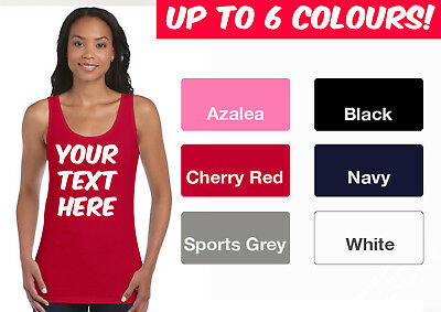 Womens Custom Personalised Softstyle Vest T-Shirt Tank Top for Hens / Birthdays