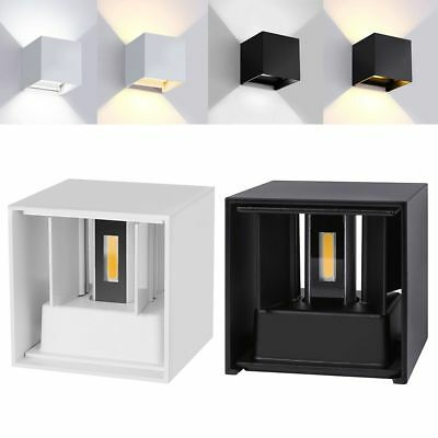 12W Waterproof Dimmable Modern Cube Wall Light Led Sconce Up Down Lamp