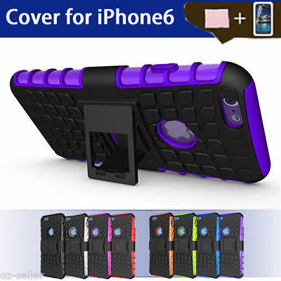Case Cover For Apple iPhone 6 6S PC TPU Shockproof Hybrid Kickstand Soft Slim