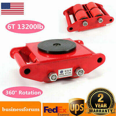 Machinery Mover Dolly Skate Roller Move 360° Rotation 6T 13200lb Heavy Duty US!