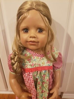 """WIG ONLY NWT Monique Beth Double Red Doll Wig 16-17/"""" fits Masterpiece Doll"""