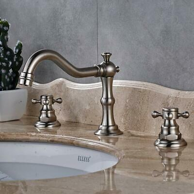 Gold Bathroom Basin Faucet Waterfall Spout Brass Vanity Sink Mixer Tap Dual Knob