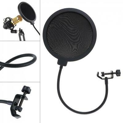 Double Layer Studio Recording Microphone Wind Screen Mask Pop Filter Shield New