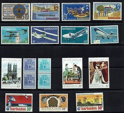 Barbados..1969 Scouts,1973 Aviation,1975 Coils,plus More    Muh
