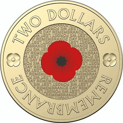 2018 $2 Red Poppy Remembrance Day UNC
