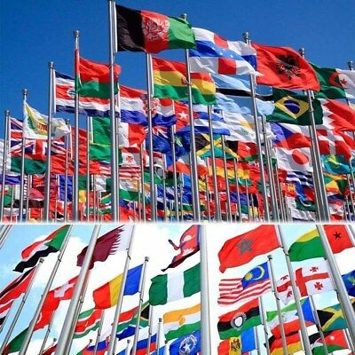 3'x5' National Flag World Country Flags Polyester America Flags Emblem Banner