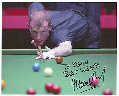 STEVE DAVIS Signed 10x8 Photo SNOOKER World Champion COA