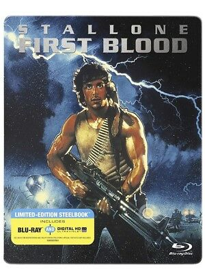 Rambo First Blood Blu-Ray /Digital Hd Steelbook Collector's Edition New Rare