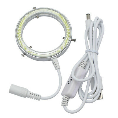Microscope LED Ring Light Source Thin Lamp USB Top Illumination Inner Dia. 58 mm