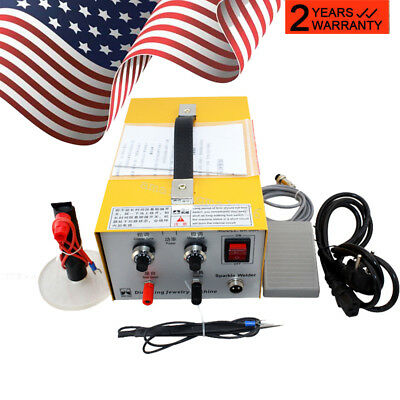 USA Ship】Pulse Sparkle Spot Welder 110V/220V Electric Jewelry Welding Machine