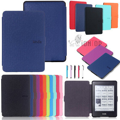 For 2018 New Kindle Paperwhite 4 3 2 1 Smart Leather Sleep Awake Flip Cover Case
