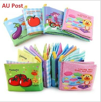 Children book Baby Toddler Infant Interactive Education Soft Cloth Book
