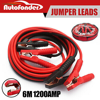 Autofonder Car Booster Cable /Jumper Leads Protected Jump 6M Heavy Duty 1200AMP