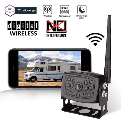Smartphone WiFi Wireless Intelligent Car Rear View Camera Truck Caravan Bus RV