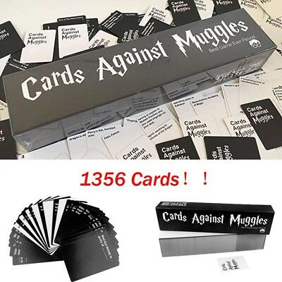 Cards Against Muggles Cards Against Humanity Table Game 1356 Cards Party Game