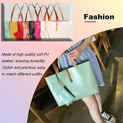2pcs Women Shoulder Bags Hobo Handbags Satchel Messenger Bag With Purse