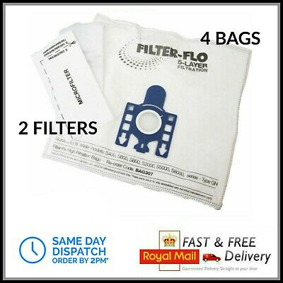 4 GN Bags for Miele Vacuum Cleaner Complete C2 C3 Cat Dog Powerline Silence