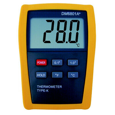 Contact thermometer + Temperature Probe type K +1300°C (DM6801A +)