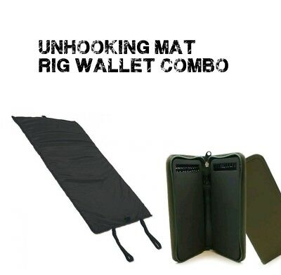 Carp Fishing Quick Folding fish Unhooking Mat 20 pin stiff rig wallet combo
