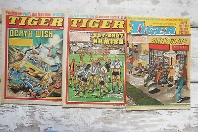 Tiger Comic x 3 Hot Shot Hamish Billys Boots Death Wish Etc